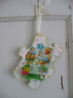 Hand Made One Of A Kind Spring Or Easter Wall by MossyCottage $8.00