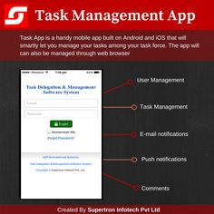 Task App is a handy mobile app built on Android and iOS that will smartly let you manage your tasks among your task force. The app will can also be managed through web browser….  Note: If you are looking to develop a progressive #mobileapp for your busine
