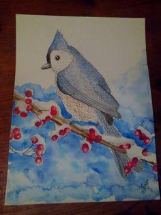 Bird watercolor aquarell