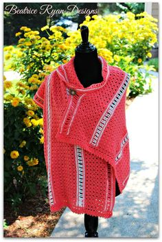 Amazing Grace Crochet Shawl Pattern ~ not crazy about these colors but I kind of like how it buttons and drapes.