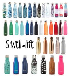 """#s'well #s'well=life #waterbottles"" by cello1776 on Polyvore featuring S'well"
