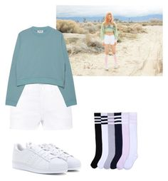 """Red Velvet - Ice cream cake MV  Joy"" by nguyethally ❤ liked on Polyvore featuring adidas, Frame, Acne Studios and kpop"