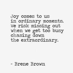 joy comes to us.