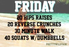 Week of Workouts - Friday Goals