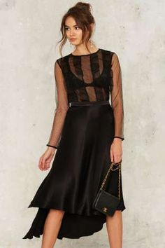 A swanky skirt for a swanky night.