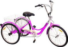 NEW Adult 24 Tricycle Shimano Gears Bike Bicycle ~ White Trike Adult Tricycle, Tricycle Bike, Trike Bicycle, Three Wheel Bicycle, 3rd Wheel, Bike Style, Komodo, Cycling Outfit, Blue And White