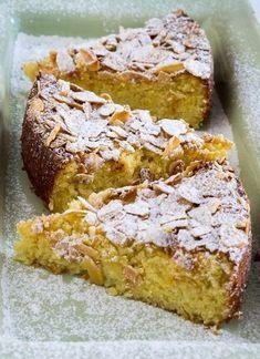 Lemon Ricotta Cake Ricotta Recipes Healthy, Healthy Cake, Almond Recipes, Paleo Recipes, Baking Recipes, Sweet Recipes, Citrus Recipes, Ricotta Pie, Lemon Ricotta Cake