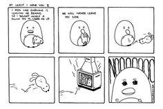 Pena The Unholy - Comics - Cute Penguins - Dark Art Illustrations - Horror - Dark Humor Dark Art Illustrations, Illustration Art, Cheer Me Up, Cute Penguins, My Side, Comic Art, At Least, Horror, Drama