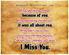 sweet message for boyfriend tagalog