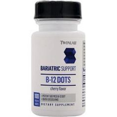 Save more with better quality supplements! TwinLab Bariatric Support B-12 Dots 500mcg  200 - 1400 tabs 100/bottle better  #TWINLAB