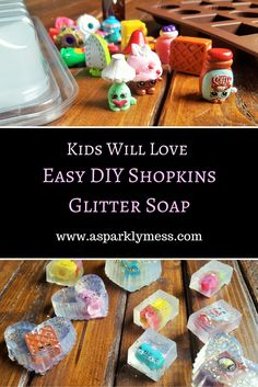 How to make soap your kids will actually use. DIY Homemade Shopkins Soap is a fun and easy kid friendly project.