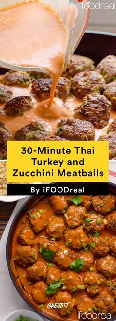 30 Minute Thai Turkey And Zucchini Meatballs Healthy Dinner Recipes