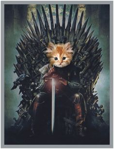 Custom pet portrait digitalGame of Thrones posterCat Portrait Renaissance, Renaissance Art, Game Of Thrones, Fancy Cats, Cute Cats, Game Of Throne Poster, Pet Websites, Costume Chat, Kinds Of Cats