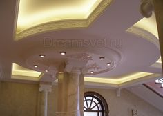 подсветка потолка светодиодной лентой фото