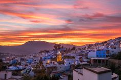 Chefchaouen at sunset #amazing #bluecity #chefchaouen #discover #explore #fujifilm #fujifilmmy #goldenhour #hill #instagram #instadaily #instagood #journey #landscape #morocco #outdoorphotography #photography #photo #picturesque #travel #travelgram #travelphotography #urban