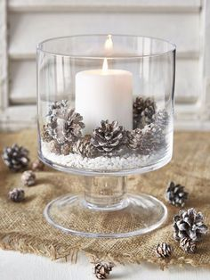 christmas candle decorations.