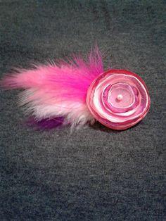 Silk flower hair pin