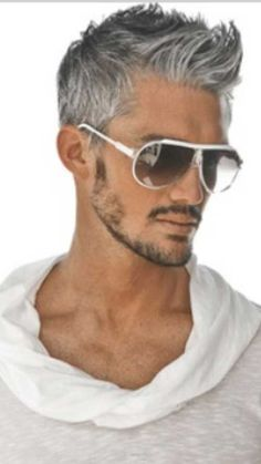 where to get haircut handsome gray haired and bearded model general 5342