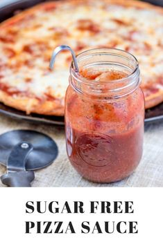 This sugar free pizza sauce recipe comes together in minutes and is a simple way to enjoy a delicious, low carb pizza. #sugarfree #lowcarb #keto #trimhealthymama#homemadepizzasauce #pizza#pizzasauce