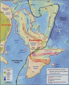"""The Earth has a brand new continent. Geologists have determined there's a new continent called """"Zealandia. Kings Ridge, Pacific Ocean, South Pacific, Tectonique Des Plaques, Beneath The Sea, Airlie Beach, Donia, Plate Tectonics, World History"""