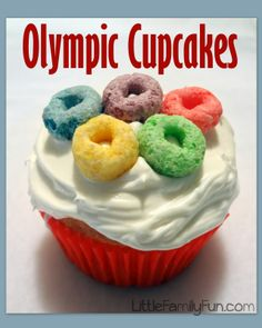 Make Olympic Cupcakes with FRUIT LOOPS!