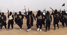 An image grab taken from a propaganda video, uploaded on June 11, 2014 by jihadist group the Islamic State of Iraq and the Levant (ISIL), allegedly shows ISIL militants gathering at an undisclosed location in Iraq's Nineveh province (AFP Photo/-). Ancient Islamic prophecy about caliphate.