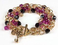 Jewelry Making Idea: Sweetheart Rose Bracelet (eebeads.com)