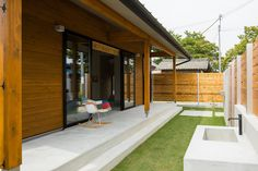 Modern home from Rupohouse Inc. Future House, Ideal Home, Entrance, Garage Doors, Deck, House Design, Patio, Architecture, Gallery