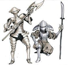 mushroom knights for Inktober :) Fantasy Art Warrior, Fantasy Armor, High Fantasy, Medieval Fantasy, Fantasy Character Design, Character Design Inspiration, Character Art, Monster Concept Art, Knight In Shining Armor
