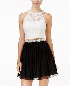 Shop the latest styles of Juniors Homecoming Dresses at Macy's. Check out our wide collection of chic dresses for all occasions including top designer brands and more! Holiday Party Dresses, Lace Party Dresses, Lace Dress, Lace Chiffon, Chiffon Dresses, Fit And Flare Cocktail Dress, Fit N Flare Dress, Cocktail Dresses, Junior Homecoming Dresses