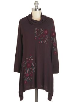 Countryside Cruising Tunic. The weather is perfect and the scenery is breathtaking, so you hop behind the wheel in this embroidered tunic and head toward the hills! #purple #modcloth