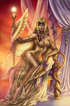 DiVinica: Isis - Risque – Art of Dawn McTeigue Fantasy Girl, Fantasy Female Warrior, Fantasy Art Women, Female Art, Isis Goddess, Goddess Art, Egyptian Goddess, Ancient Egyptian Art, Ancient Aliens