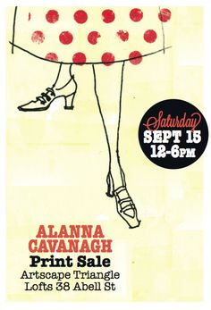 Postcard for my sale on Saturday  Graphic design by Colleen Nicholson    #Alanna Cavanagh Sale
