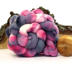 Fine Merino wool, kettle dyed in my Very Berry shades. Suitable for Spinning and felting www.jobadger.com