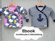 Baby-Jäckchen im Wickeljacken-Look - Schnittmuster und Nähanleitung via Makerist.de
