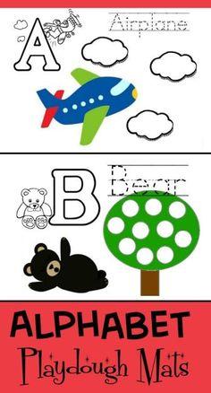 FREE! DIY Alphabet Playdough Mats