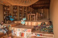 African Children's Library With Rammed Earth Walls By BC ArchitectsStudioAflo | Interior Design Ideas | StudioAflo | Interior Design Ideas