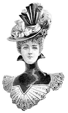 Furniture decals shabby chic french image transfer vintage Victorian Lady home Art Craft label scrip Victorian Hats, Victorian Women, Victorian Fashion, Vintage Fashion, Mode Vintage, Style Vintage, Vintage Clip Art, French Images, Images Vintage