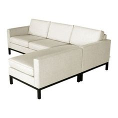 white leather sectional - like the style. Probably better with a light ivory/tan/gray color.