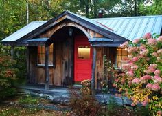 A Cabin in the Woods...I recently came across this charming photo of one of Jamaica Cottage Shops first Gibraltar Cabins, back when the only size they made was the 12' x 20' (now they have no less than 6 standard sizes to choose from). The siding has naturally weathered to this idyllic fairy tale patina, the landscaping has grown …
