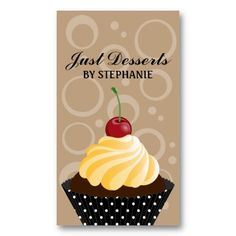 16 best cupcake shaped business cards images on pinterest bakery cupcake bakery business cards colourmoves
