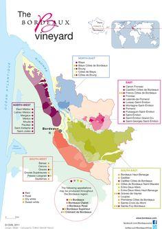 Bordeaux Wines | The Vineyard - Appellations map - Bordeaux Wines