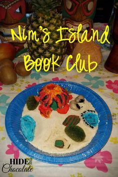 Nim's Island Book Club  At our most recent book club, Nim's Island inspired the girls to imagine what life would be like on their own secret island. Then they designed it and built it. All while eating crab legs and mangos.
