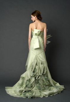 If I ever got married, I would totally wear pale green