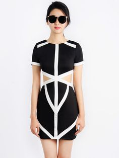 Fashion - Black Bodycon Dress With Cut Out $49.99 | Get paid up to 11.2% Cashback when you shop at CHOiES with your DubLi membership. Not a member? Sign up for FREE at www.downrightdealz.net
