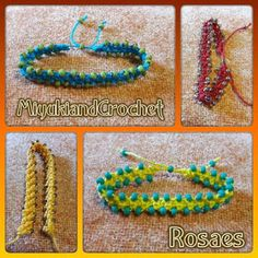 Miyuki&CrochetRosaes:  PULSERAS CROCHET Pulseras realizadas en crochet c...