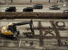 Roadworkers coffebreak by Erik Johansson