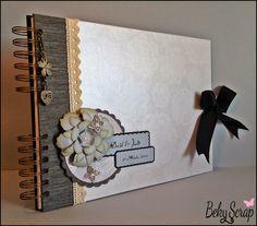 Beky Scrap: Libro de firmas boda Judit y David Wedding Guest Book, Wedding Day, Signature Book, Scrapbook Albums, Scrapbooking, Cover Pages, Wedding Accessories, Cardmaking, Diy And Crafts