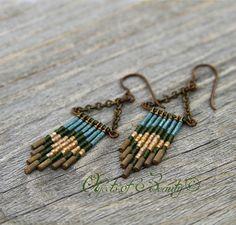 Markleeville Boots Raven Earrings  #handmade #earrings #brass #beads #BootsRavenDesigns