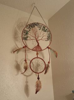 Tree Of Life Dream Catcher with hanging by PrettyThingz4UByMe